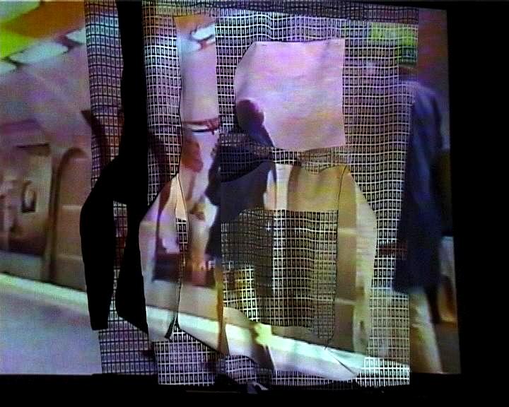 Projections sur écrans textiles Gens Métro