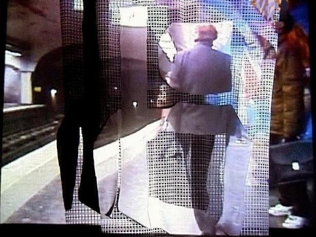 Projections sur écrans textiles Gens Métro vue 3